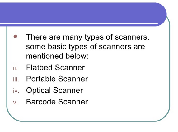 Scanner and Its Types