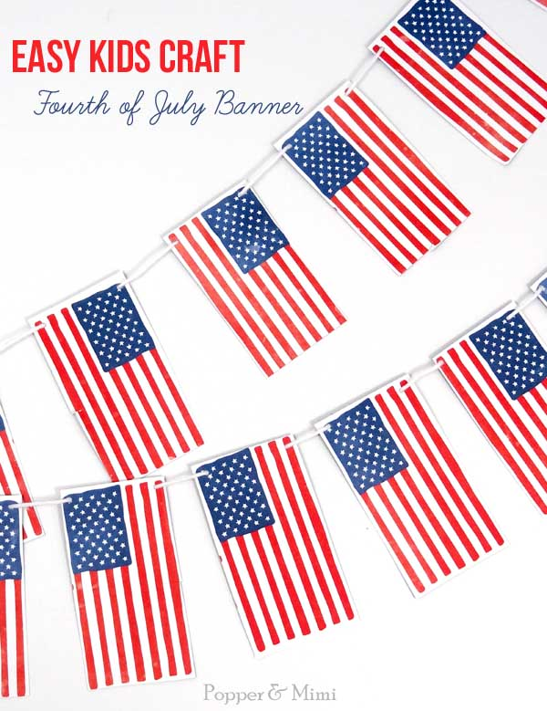 Fourth of July Banner | popperandmimi.com