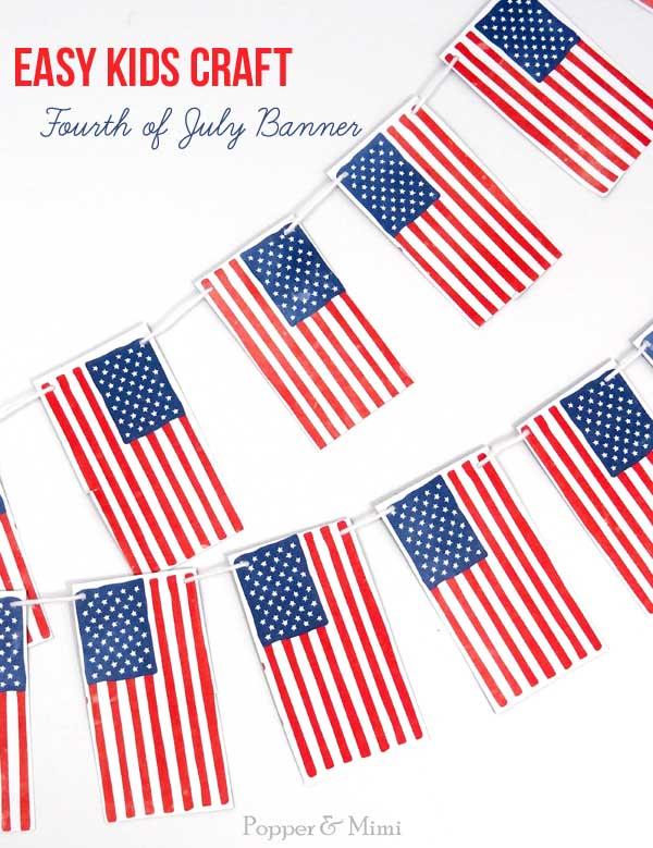Fourth of July Banner | popperandmimi.com
