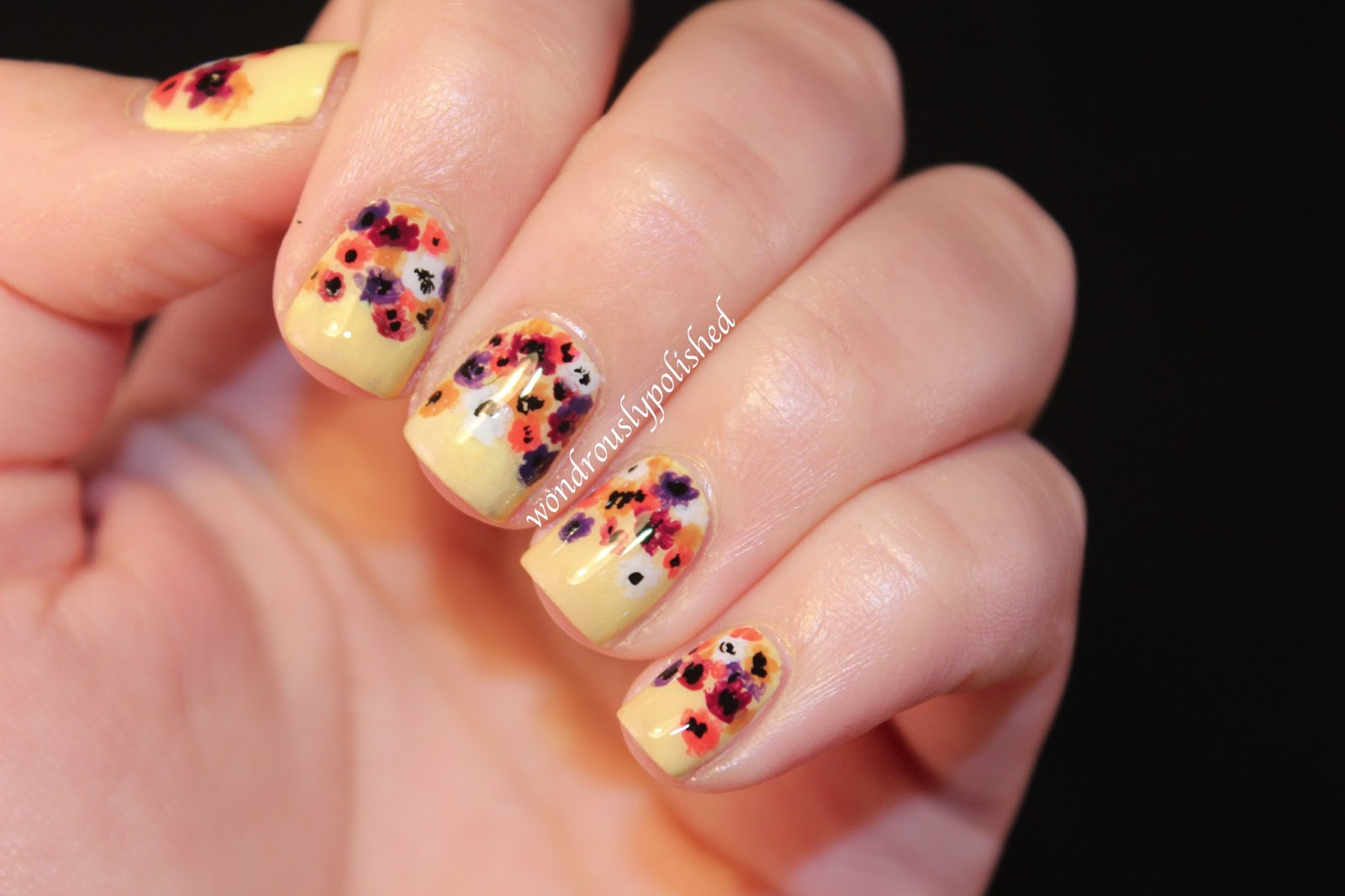 February Nail Art Challenge Day 2 Flowers