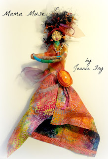 Mama Muse a Handmade Art Doll for Creative Inspiration by Jeanne Fry