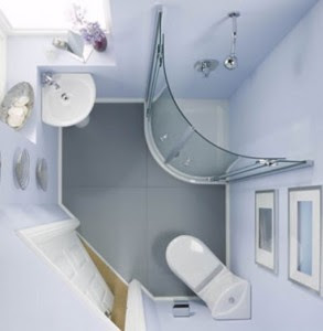 Desain Interior Kamar Mandi Minimalis Mungil Kecil Cantik