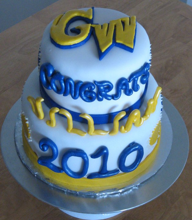 Sweet Cakes DC: GWU Graduation Cake