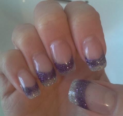 sharon's nail art purple