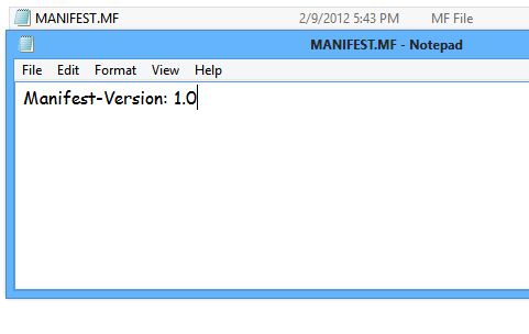 how to change a permissions manifest file in jar
