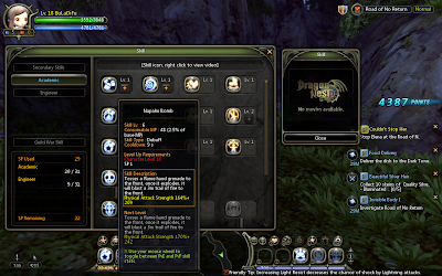 Dragon Nest - Napalm Bomb Skill Description