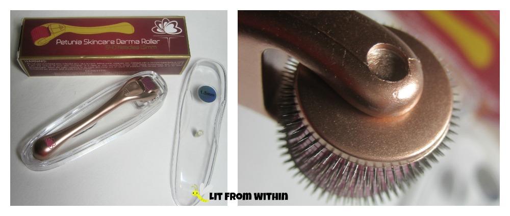Petunia Skincare Derma Roller needle closeup