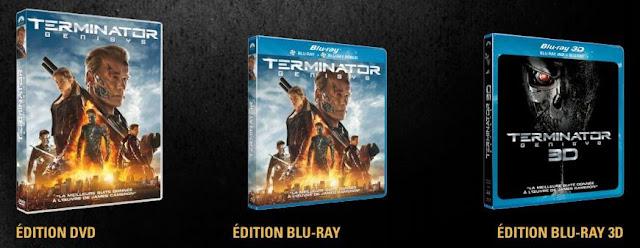 TERMINATOR GENISYS en DVD, Blu Ray et Blu Ray 3D