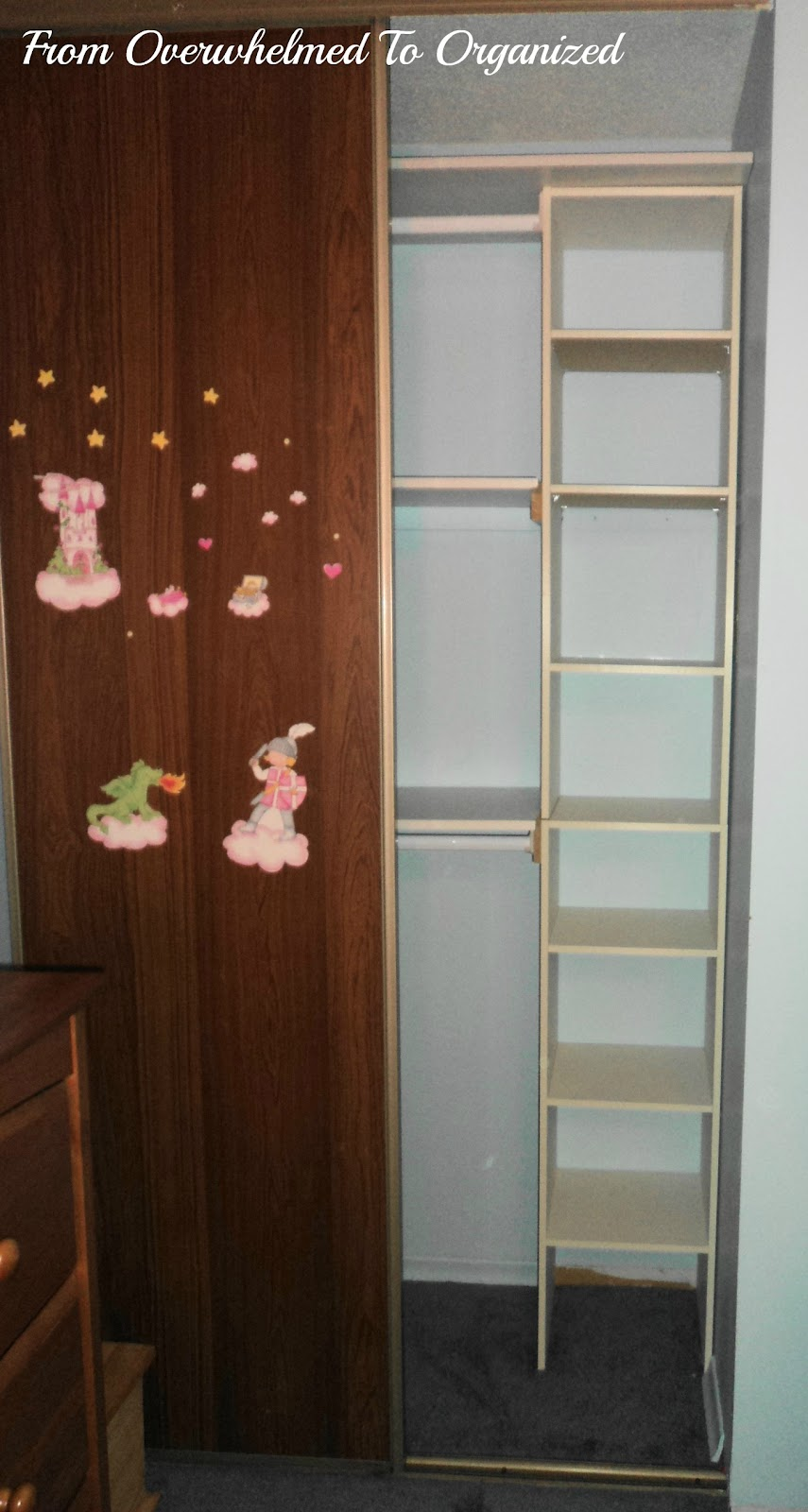 The Left Side Has 2 Shelves And 2 Rods (the Lower One Is Under That Bottom  Shelf And Is Perfect For Kidsu0027 Clothing). The Right Side It Has A Tower Of  Small ...
