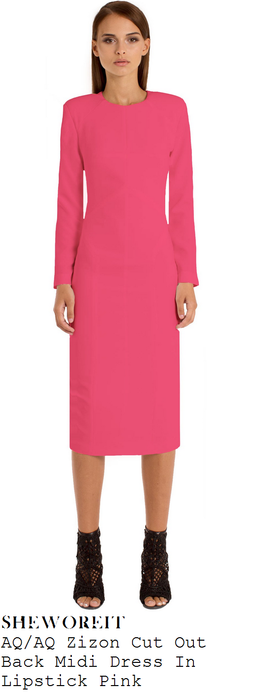 vicky-pattison-bright-pink-open-back-long-sleeve-pencil-dress