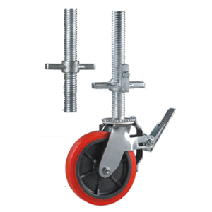 Above Screw Tube Scaffold Caster Wheels,allow Height Adjustable. User Can  Adjust The Scaffold Rack Working Height By Change The Scaffold Caster  Wheels Nut ...