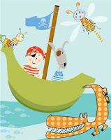 pirate notebooks paper books stationery Liz and Pip Ltd