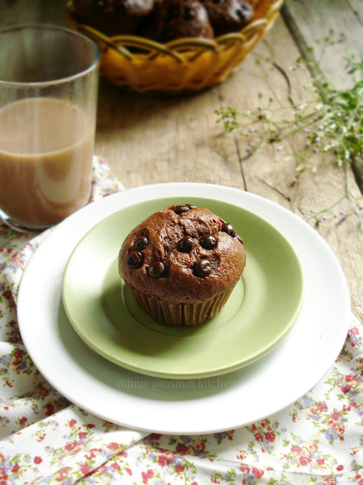 jasmin s kitchen double chocolate banana wilton muffin