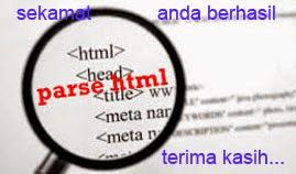 cara memparse kode html / javascript dengan menggunakan alat parse
