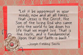 LDS Handouts: Joseph Fielding Smith: Our Savior Jesus Christ