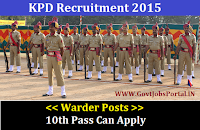 KPD Recruitment 2015