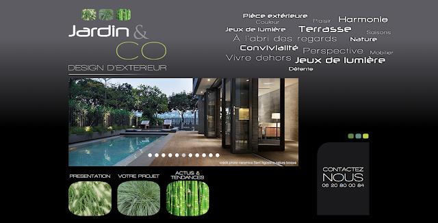 Page d'accueil du site Jardin & Co