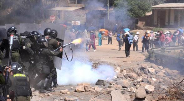 Mala imagen de la policía boliviana