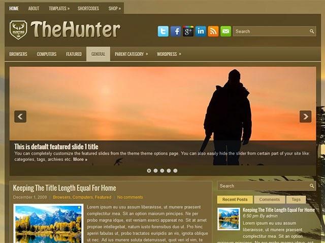 TheHunter - Free Wordpress Theme