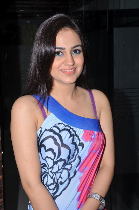 Aksha Latest in blue dress - Aksha latest hot Pics