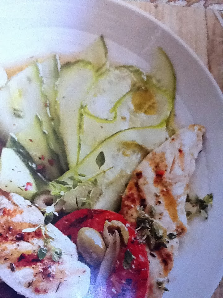 Low Carb Chicken, Tomato, and Cucumber Salad