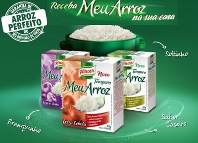 Knorr Meu Arroz Amostra Gratis