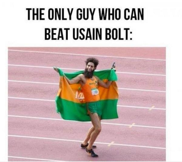 The only guy can beat usain bolt