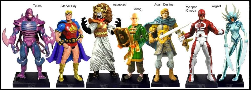 <b>Wave 56</b>: Tyrant, Marvel Boy, Mikaboshi, Wong, Adam Destine, Weapon Omega and Argent