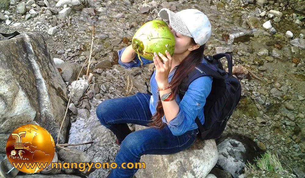 FOTO : Manfaat dibalik segarnya air kelapa. Foto Model Bu Lurah Yuli Merdekawati - Lurah Cigadung, Subang, Jawa Barat, Indonesia .