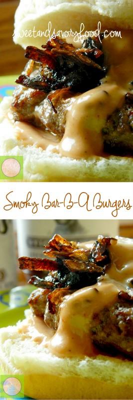smoky bar-b-q burgers (sweetandsavoryfood.com)