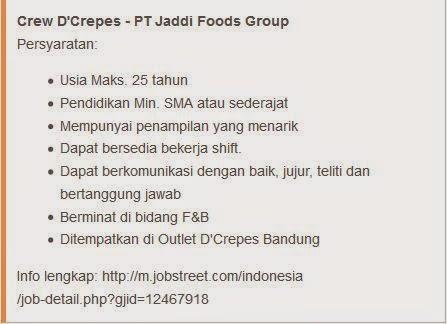 lowongan kerja jaddi foods group di bandung
