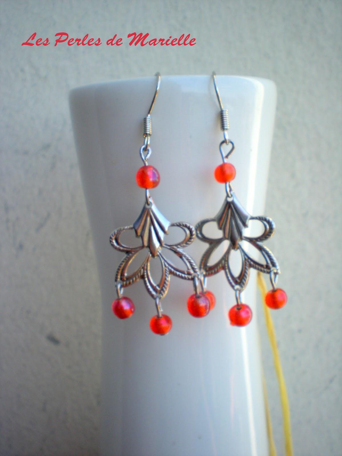 Les perles de marielle nouvelles boucles d 39 oreille perles - Boucle d oreille fait main ...