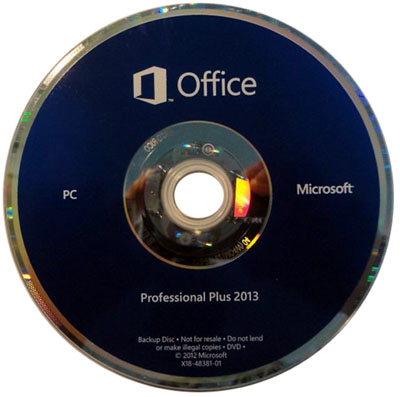 MICROSOFT OFFICE PROFESSIONAL PLUS 2013 LABEL