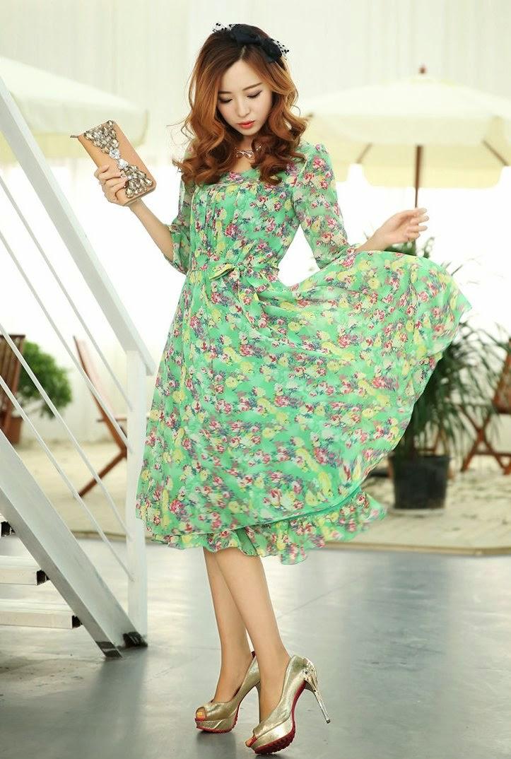 Модные шифоновые платья 2017