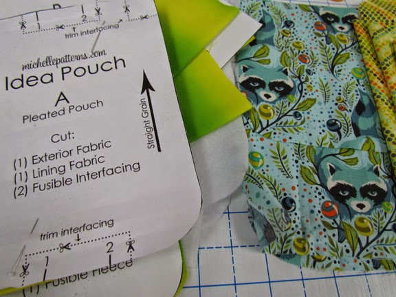 Michelle Patterns Idea Pouch....made by Marty Mason