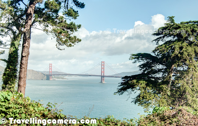 Last week, I was in San Jose for an official purpose and planned for a day trip to San Francisco with some office friends. During the visit, we spend most of the time around Golden Gate Bridge. This Photo Journey shares some of the photographs of Golden Gtae Bridge and places around it.Here is a view of Golden Gate Bridge from Presidio Golf Course. We drove to San Francisco from San Jose through Presidio Golf Course. Our first stop was Ocean beach and then stopped around Presidio Golf Course with some amazing views of Pacific Ocean and Golden Gate Bridge.Here is a view of Presidio Yacht Club from Hendrik Point & Battery Spencer. There is a wonderful view of Horseshoe Bay from Hendrik Point.The Golden Gate Bridge is a suspension bridge spanning the Golden Gate, the opening of the San Francisco Bay into the Pacific Ocean. As part of both U.S. Route 101 and California State Route 1, the structure links the city of San Francisco, on the northern tip of the San Francisco Peninsula, to Marin County. It is one of the most internationally recognized symbols of San Francisco, California and the United States.Another view from Hendrik POint & Battery Spencer - Pacific Ocean, Angel Island, Presidio Yacht Club, Richardson Bay, Tuburon, San Rafael Bay, San Pablo Strait etc.Here is a view of Golden Gate Bridge from the end of Marine Drive Road, just below thw bridge. Torpedo Wharf is just in front of this pointAnother view of Golden Gate Bridge from same point. Here many of the surfers park their cars and enjoy surfing in pacific ocean.One of the friend photographer coming back after clicking some of the surfers under Golden Gate Bridge in San Francisco.Surfing community around Golden Gate Bridge @ San Francisco, CaliforniaHere is a view of San Francisco city through Torpedo Wharf. Photographer is clicked from the bottom of Golden Gate Bridge near Marine Drive Parking areaGolden Gate Bridge is a popular with pedestrians and bicyclists and was built with walkways on either side of