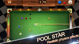 Screenshots of the Pool star for Android tablet, phone.