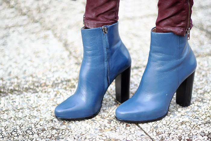zara boots, blue