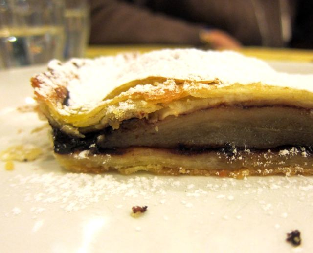 Pear and chocolate tart - Al Tranvai, Florence