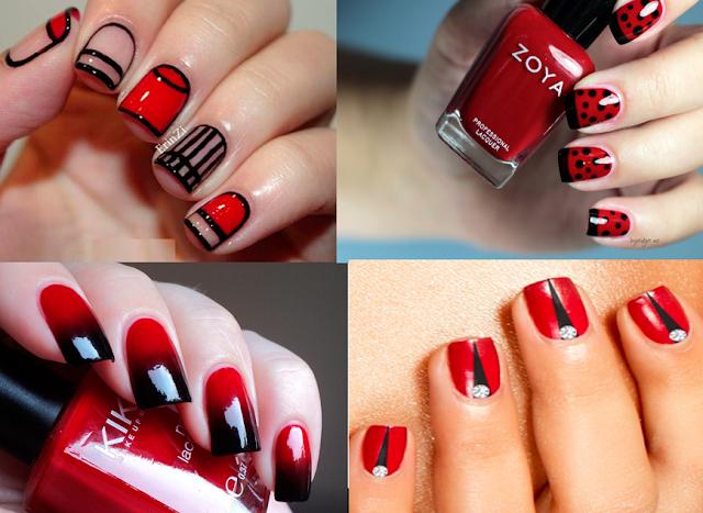 Inspiração: Unhas decoradas com esmaltes vermelhos