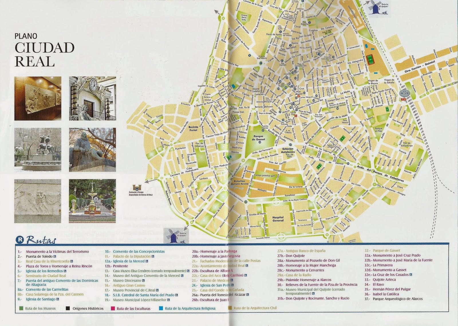 El sayon el ayuntamiento de ciudad real publica una gu a - Plano de ciudad real ...