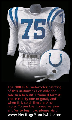 Baltimore Colts 1958 uniform - Indianapolis Colts 1958 uniform