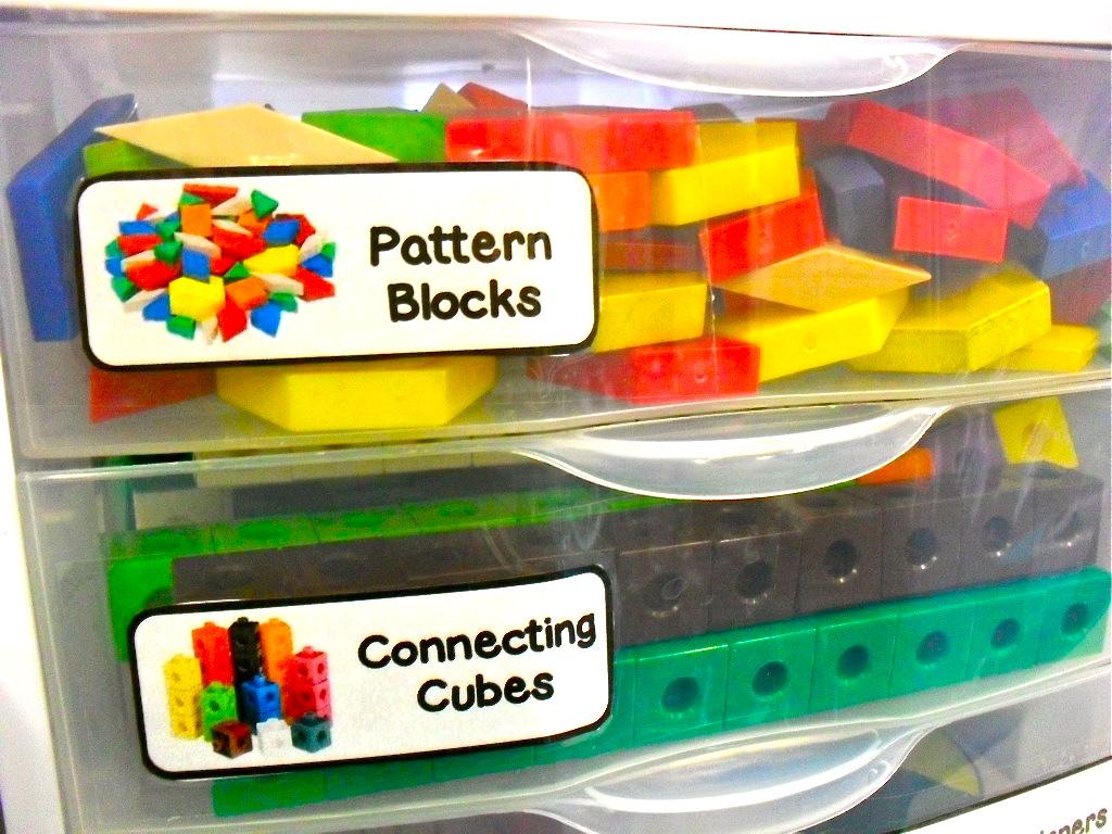 organizing math manipulatives the tenacious teacher
