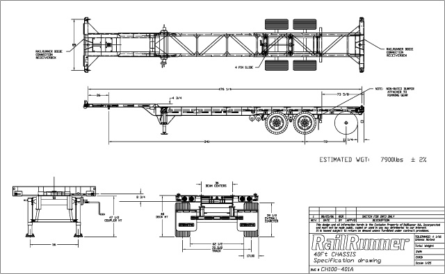Container Chassis Amp Parts Chassis Specifications