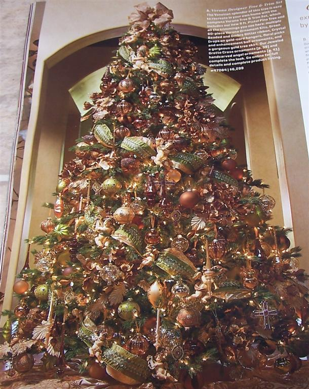 Perennial passion christmas tree inspiration Brown and gold christmas tree