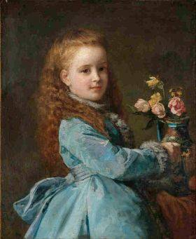 Edith Wharton as a young girl (painting by Edward Harrison May)