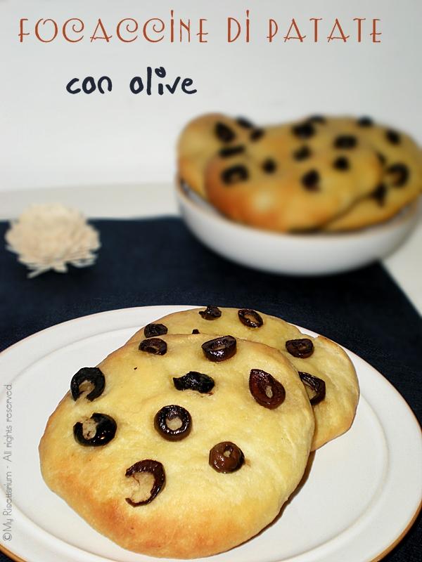 Focaccine di patate con olive