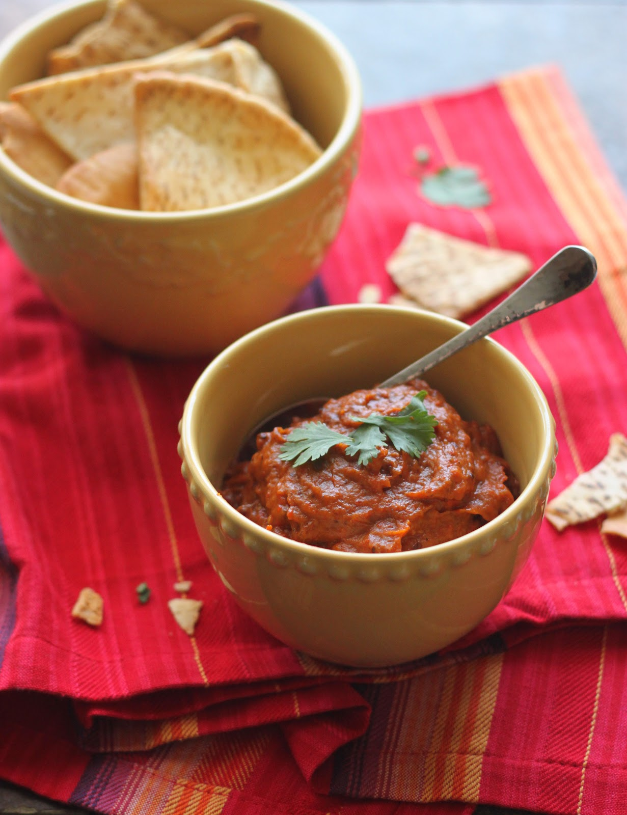 The Cilantropist: Roasted Eggplant and Red Pepper Dip