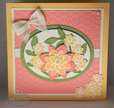 SU Stampin' Up! Crazy about you, Flower Frenzy Bigz, Fancy Fans embossing folder