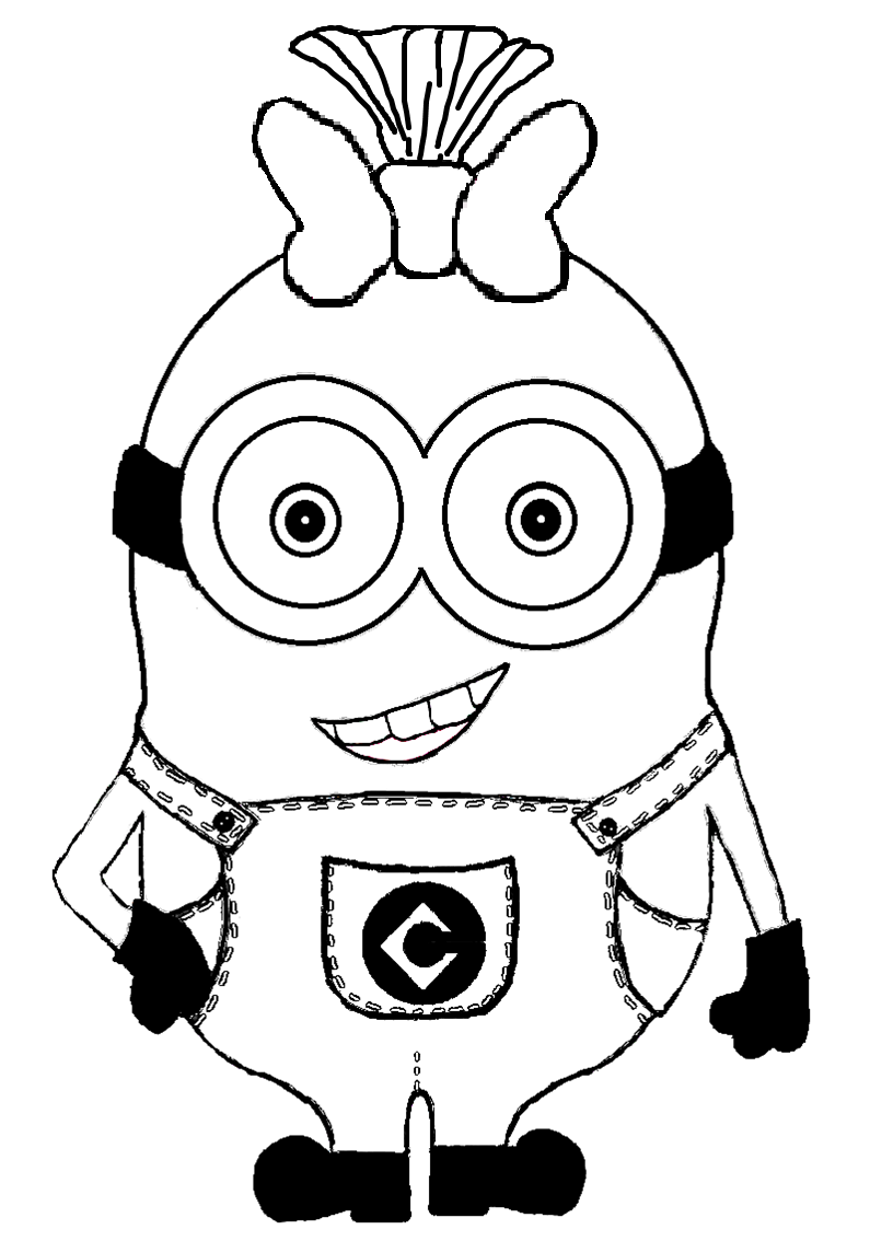 cute baby minions colo... Baby Minion Coloring Pages